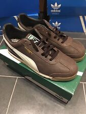 Puma Roma Distressed Brown UK 9 Rom Rome Cracked Leather Like Adidas Chile 62 GV