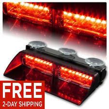 16 LED Car Truck Emergency Dash Interior Windshield Warning Flash Strobe Lights