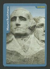 Mount Rushmore Collector Photo Game Card Washington Jefferson Roosevelt Lincoln