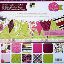 DCWV (Cherry Limeade)  12x12 Paper Stack - 48 Sheets - Foil & Glitter- Save 60%