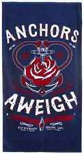 Anchors Aweigh beach towel Sourpuss pin up girl anchor nautical sailor