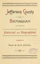 1887 JEFFERSON County, BIRMINGHAM, Alabama AL, History and Genealogy, DVD CD V92