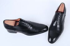 Santoni  'Stafford' Medallion Oxford- Black Calf- Size 11 D $795  (J5)