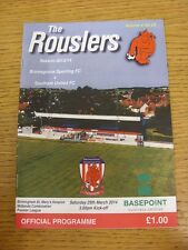 29/03/2014 Bromsgrove Sporting v Southam United  . Thanks for viewing our item,