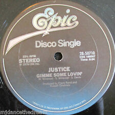 "JUSTICE ~ Gimme Some Lovin / Easy To Love ~ 12"" Single USA PRESS"