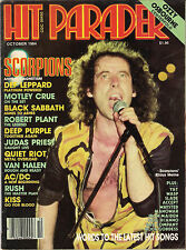 HIT PARADER October 1984 SCORPIONS Rush AC/DC Kiss OZZY OSBOURNE POSTER RARE EXC