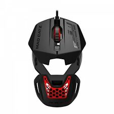 Mad Catz RAT 1 USB Optical 1600DPI Black and Red Ambidextrous Brand New
