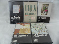 Led Zeppelin Lot 5 Cassette Tapes CODA Presence Song Remains Zep II Zep III