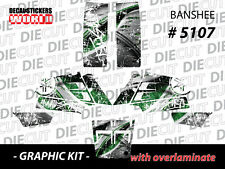 *NEW* RACING ATV QUAD BANSHEE COMPLETE GRAPHICS KIT STICKERS 350 5107