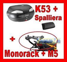 DUCATI MONSTER 696 796 08 VALIGIA BAULETTO K53N + MONOKEY 780FZ + M5 + SPALLIERA