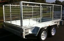 NEW 8X5 DUAL AXLE HEAVY DUTY CAGED TRAILER... 2000KG RATED