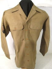 "WWII US Army Enlisted Wool Uniform Shirt 4th Pat No Gas Flap - Sz 14.5"" X 32"" #2"