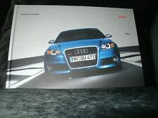 Audi RS4 Quattro GmbH Hardback Sales Brochure OCTOBER 2005 PLEASE SEE NOTE