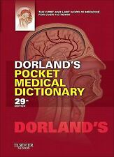 FAST SHIP - DORLAND 29e Dorland's Pocket Medical Dictionary                  AY2