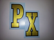 VESPA PX VINYL STICKERS FITS LEGSHIELD/FLY SCREEN CLASSIC STYLE (Not Printed)