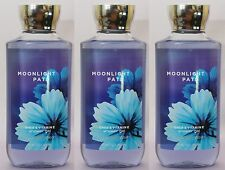 LOT 3 MOONLIGHT PATH BATH & BODY WORKS BODY FRAGRANCE WASH SHOWER GEL 10 FL OZ