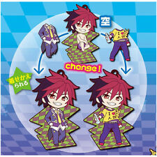 No Game No Life Sora Magnetic Clothes Changing Rubber Phone Strap NEW