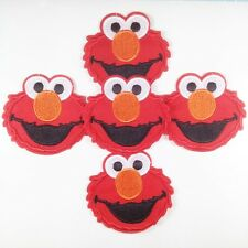 5 pcs Sesame Street Elmo Iron On Sew On Cloth Patches Appliques Kids Crafts #2