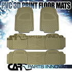4X Semi Custom Beige Heavy Duty PVC Rubber Front & Rear Floor Carpets Mats