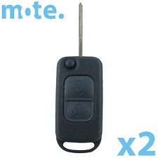 2 x Mercedes-Benz 2 Button Remote Flip Key Blank Replacement Shell/Case/Fob