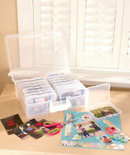 Photo Organizer Case Holds 1600 Pictures with 16 Acid Free Cases Snap Shut Cases
