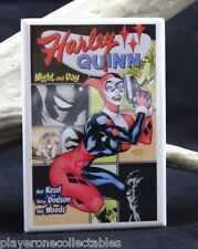 Harley Quinn Night and Day Comic - Fridge / Locker Magnet. Batman Joker