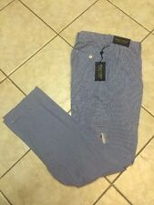 Polo Ralph Lauren Golf Coolmax Gingham Range Pant Diplomat Blue/White 33x32 NWT
