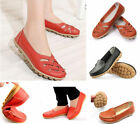2016Casual Womens Genuine Leather Ballet Flats Shoes Oxfords Hollow Lady Loafers