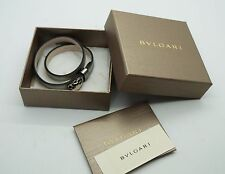 BVLGARI Bulgari Silver Wrap Patent Leather Serpenti 282081 Bracelet NEW w/ Box