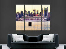 NEW YORK CITY CRUISE SHIP  ART HUGE GIANT POSTER PRINT LARGE
