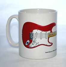 Guitar Mug. David Gilmour's Candy Apple Red Fender Stratocaster Illustration.