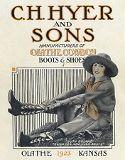 C.H.HYER AND SONS-OLATHE COWBOY BOOTS AND SHOES-1923 CATALOG COVER
