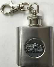 STAINLESS STEEL 1oz  HIP FLASK KEY RING KEYRING NOVELTY GIFT