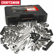 New Craftsman 230 pc Silver Finish Standard and Metric Mechanic's Tool Set 50230