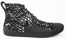 Balenciaga Men's Black & White Scribbled Canvas High Top Sneakers 41 US 7.5 $465