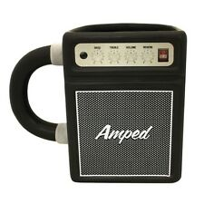 AMPED Ceramic Coffee Mug Cup Amplifier Guitar Amp Music Gift Novelty Musician
