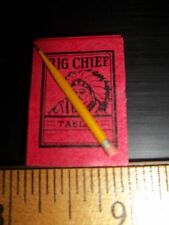 BIG CHIEF PAD AND PENCIL -- DOLL HOUSE MINIATURE