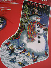 Christmas Needle Treasures Needlepoint Stocking Kit,FEATHERED FRIENDS,06903