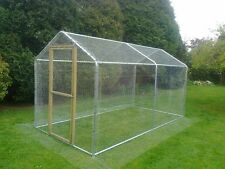 Chicken Run 2m x 4m (6ft x 13ft) Large Walk In Coop Poultry Hen Rabbit Dog Cage