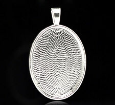 SILVER PLATED OVAL CABOCHON FRAME SETTING - BEZEL