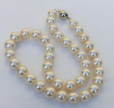 """18"""" HUGE AAA 10-11MM ROUND SOUTH SEA WHITE PEARL NECKLACE 14K Gold Clasp"""
