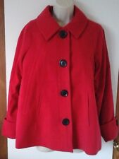 LADIES TG CHRISTMAS RED SWING JACKET SHORT COAT SIZE 10 (FIT10-12) BNWT EX CAT