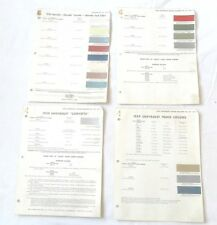 1959 CHEVROLET CAR AND TRUCK DUPONT COLOR PAINT CHIP CHARTS ORIGINAL