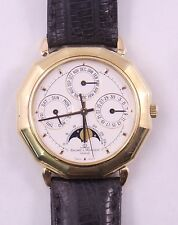 Baume & Mercier 18K Yellow Gold Triple Date Moonphase Watch 87212 (#3090)