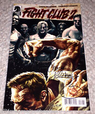 FIGHT CLUB 2 #1 COMIC SIGNED BY CHUCK PALAHNIUK AUTHOR w/COA LEE BERMEJO VARIANT
