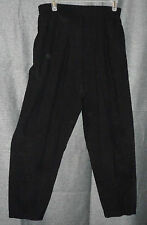 LONDON FOG 12M BLACK PANTS ELASTIC WAIST 28X27 VISCOSE/POLYMIDE WET WEATHER PANT