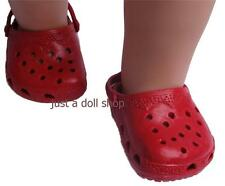 Doll Clothes Shoes Rubber Clogs Red Fit 18 inch American Girl