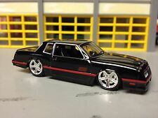 "1/64 1986 Chevy Monte Carlo SS in Black/Black Int  with 20"" Giovanni Wheels"