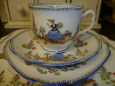 Art Deco Royal Albert Crown China Trio-Cup, Saucer & Side Plate- 'Dainty Dinah'