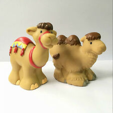 2pcs Camels Family Fisher-Price Little People Zoo Park Animal figure Boy Doll